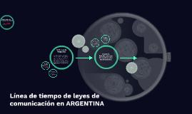 Línea de tiempo de leyes de comunicación en ARGETINA
