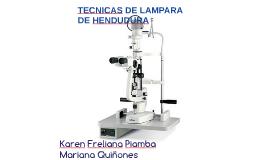 TECNICAS DE LA LAMPARA