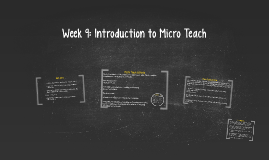 Week 9: Introduction to Micro Teach
