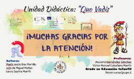 Unidad Didáctica: Quo Vadis