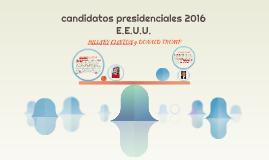 candidatos presidenciales 2016 E.E.U.U.