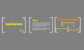 Copy of Superaleaciones y sus Aplicaciones