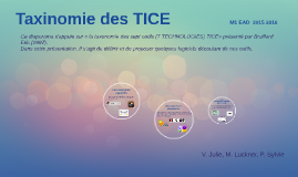 Copy of Taxinomie des TICES