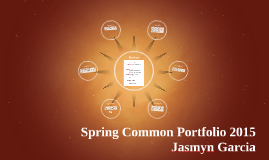 Spring Portfolio 2015