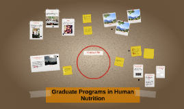 Graduate Programs in Human Nutrition