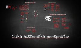 Olika historiska perspektiv