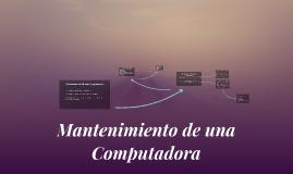 Mantenimiento de una Computadora