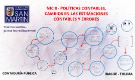 Copia de NIC 8 - POLITICAS CONTABLES, CAMBIOS EN LAS ESTIMACIONES CON
