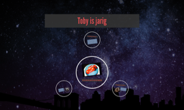 Toby is jaarig