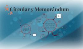 Circular y Memorándum