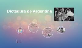 Dictaduras: Argentina