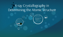 X-ray Crystallography in Determaing the Atomic Structure