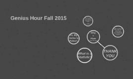 1st semester Genius Hour project