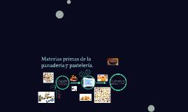 Copy of Materias primas de la panadería y pastelería.