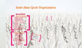S. Asian Greek Organizations