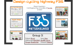 Design cycling highway F35
