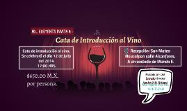 Cata de Introducción al Vino