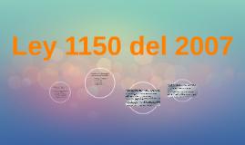 Ley 1150 del 2007