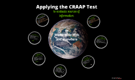 Intro to CRAAP Test Language Arts
