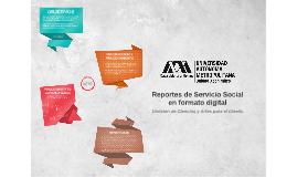 Reportes de Servicio Social en formato digital
