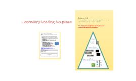 Secondary Reading Response Tools