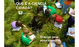 Ciencia cidadá na escola