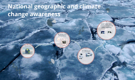 National geographic and climate change awareness