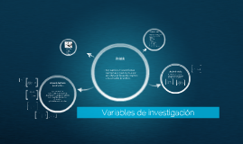 Copy of Variables de investigación