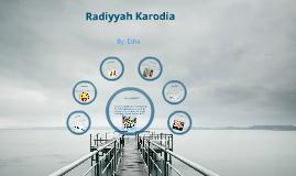 Radiyyah Karodia