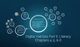 Digital Habitats Part II Literacy