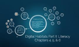 Digital Habitats Part II Literacy