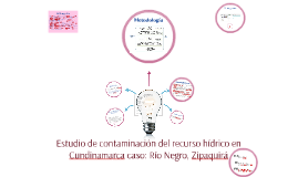 Estudio de contaminación del recurso hídrico en Cundinamarca