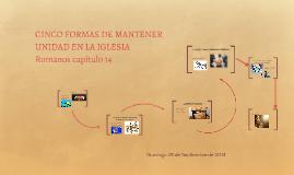 Copy of CINCO FORMAS DE MANTENER UNIDAD EN LA IGLESIA