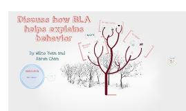 Copy of Discuss how BLA helps explain behavior