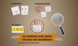 La historia oral como recurso de enseñanza