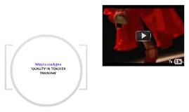 """Wizyta studyjna w Hiszpanii """"Quality in Teacher Training"""""""