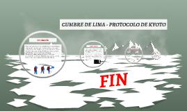 Cumbre de Lima - Protocolo de Kyoto