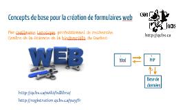 Concepts de base pour la création de formulaires web