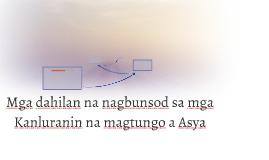Mga dahilan na nagbunsod sa mga Kanluranin na magtungo sa As