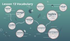 Lesson 13 Vocabulary