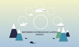 RECURSOS NATURALES DE LA ZONA ANDINA