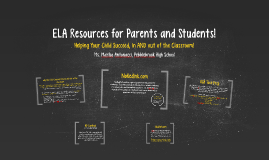 ELA Resources for Parents and Students!