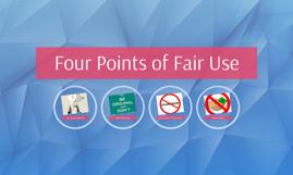 Four Points of Fair Use