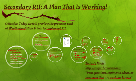 Copy of Secondary RtI: A Plan That Is Working!