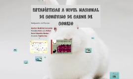 ESTADISTICAS A NIVEL NACIONAL DE CARNE DE CONEJO