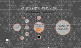 Art and Literature in Africa