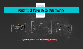 Benefits of Mobile Based Ride Sharing
