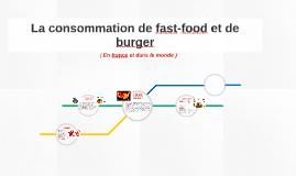 La consommation des fast-food et bruger