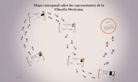 Mapa conceptual sobre los representantes de la Filosofía Mexicana. Amr