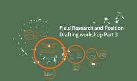 EN 100 Drafting for Field Research-Position